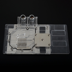 Syscooling transparent acrylic full coverage water block for clear GTX970 hall of fame graphic GPU water block
