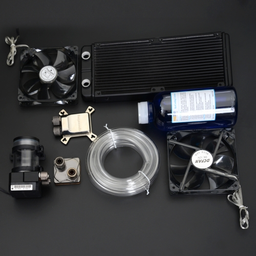 Syscooling computer CPU GPU water cooling system water tanks cooling fan